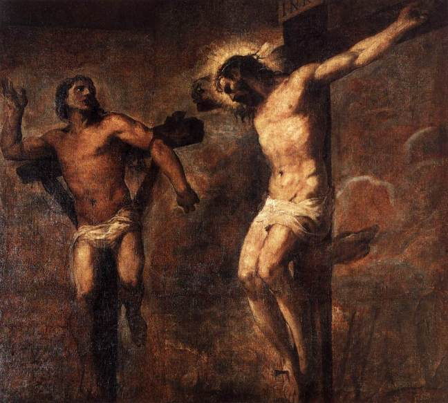 Titian: Christ and the Good Thief